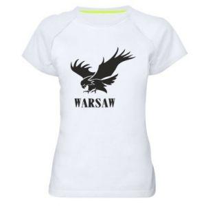Damska koszulka sportowa Warsaw eagle