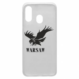 Etui na Samsung A40 Warsaw eagle