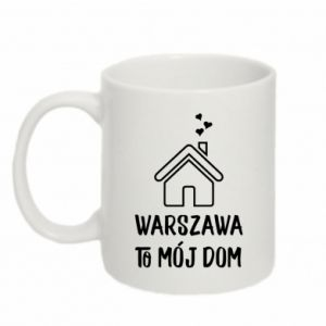 Kubek 330ml Warsaw is my home - PrintSalon