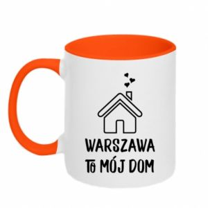 Kubek dwukolorowy Warsaw is my home - PrintSalon