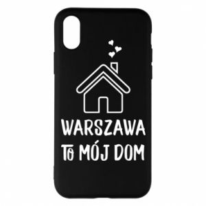 Etui na iPhone X/Xs Warsaw is my home - PrintSalon