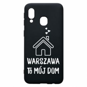 Etui na Samsung A40 Warsaw is my home - PrintSalon