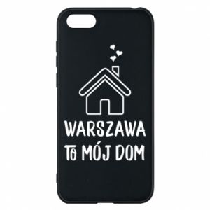Etui na Huawei Y5 2018 Warsaw is my home - PrintSalon