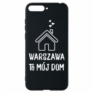 Etui na Huawei Y6 2018 Warsaw is my home - PrintSalon