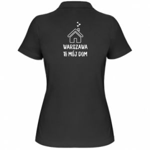 Women's Polo shirt Warsaw is my home