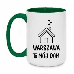 Two-toned mug 450ml Warsaw is my home