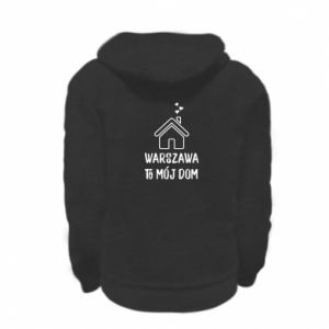 Bluza na zamek dziecięca Warsaw is my home