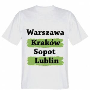 Koszulka Warszawa, Kraków, Sopot, Lublin