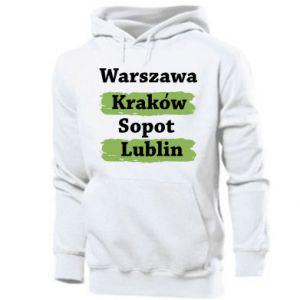 Męska bluza z kapturem Warszawa, Kraków, Sopot, Lublin