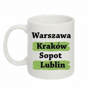 Kubek 330ml Warszawa, Kraków, Sopot, Lublin