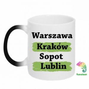 Chameleon mugs Warsaw, Krakow, Sopot, Lublin