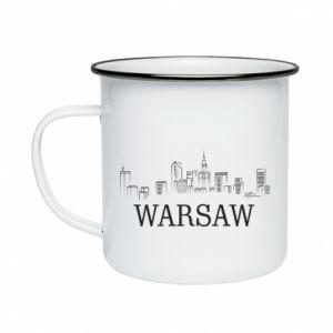 Enameled mug Warsaw