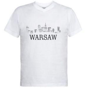 Męska koszulka V-neck Warsaw