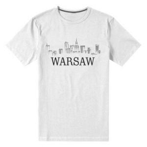 Męska premium koszulka Warsaw