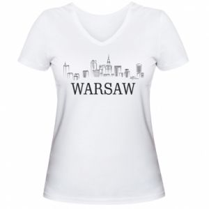 Women's V-neck t-shirt Warsaw