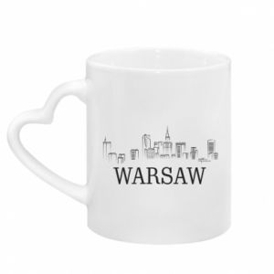 Mug with heart shaped handle Warsaw