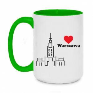 Kubek dwukolorowy 450ml Warszawa kocham cię