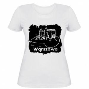 Damska koszulka Warszawa. Zamek