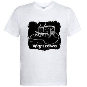 Men's V-neck t-shirt Warsaw. Castle