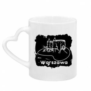 Kubek z uchwytem w kształcie serca Warszawa. Zamek