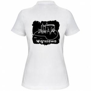 Koszulka polo damska Warszawa. Zamek