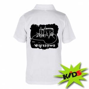 Koszulka polo dziecięca Warszawa. Zamek