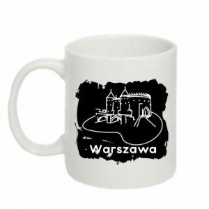 Kubek 330ml Warszawa. Zamek