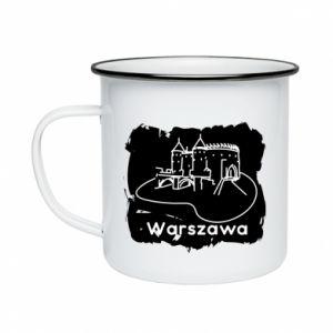 Kubek emaliowany Warszawa. Zamek
