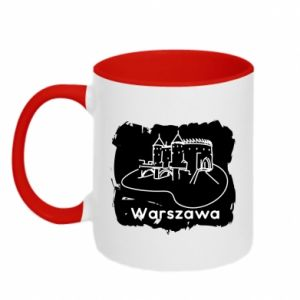 Kubek dwukolorowy Warszawa. Zamek