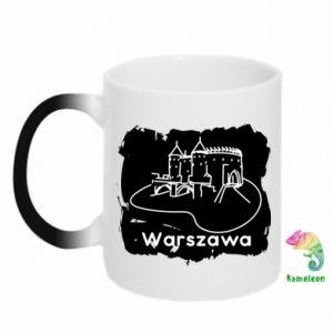 Kubek-kameleon Warszawa. Zamek