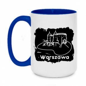 Kubek dwukolorowy 450ml Warszawa. Zamek