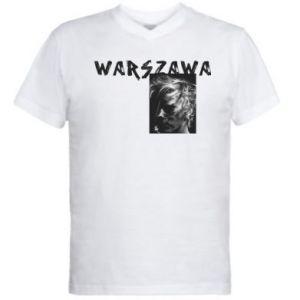 Męska koszulka V-neck Warszawa