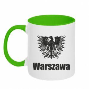 Kubek dwukolorowy Warszawa - PrintSalon