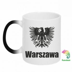 Kubek-kameleon Warszawa - PrintSalon
