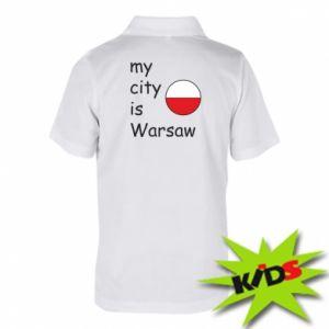 Dziecięca koszulka polo My city is Warszaw