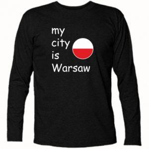 Koszulka z długim rękawem My city is Warszaw