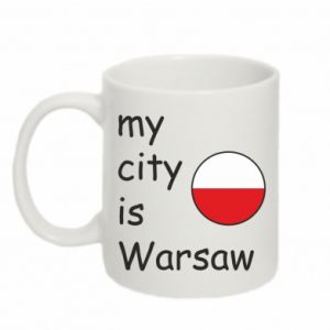 Kubek 330ml My city is Warszaw