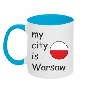 Two-toned mug My city is Warsaw