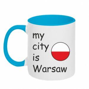 Kubek dwukolorowy My city is Warszaw