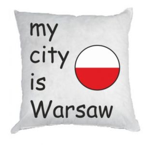 Pillow My city is Warsaw