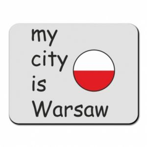 Mouse pad My city is Warsaw