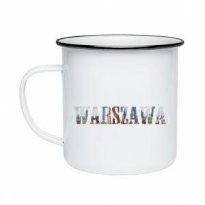 Kubek emaliowane Warszawa - PrintSalon
