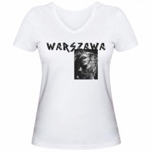 Women's V-neck t-shirt Warszawa