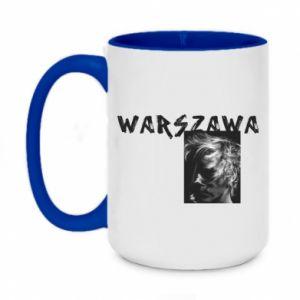 Two-toned mug 450ml Warszawa