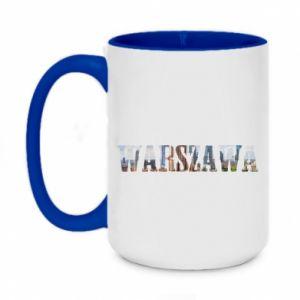 Two-toned mug 450ml Warsaw