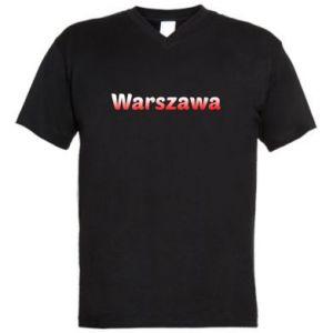 Męska koszulka V-neck Warszawa - PrintSalon