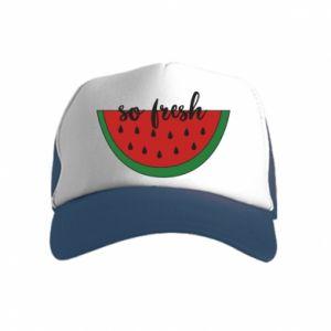 Czapka trucker dziecięca Watermelon so fresh