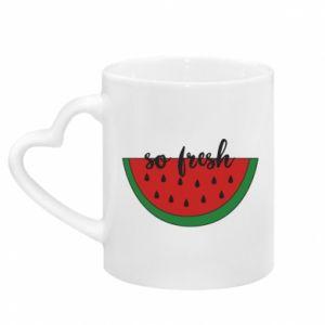 Mug with heart shaped handle Watermelon so fresh