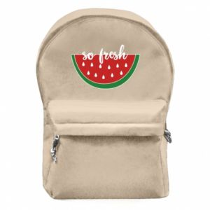 Backpack with front pocket Watermelon so fresh