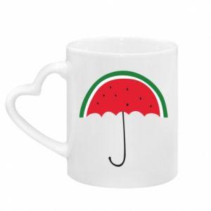 Kubek z uchwytem w kształcie serca Watermelon umbrella